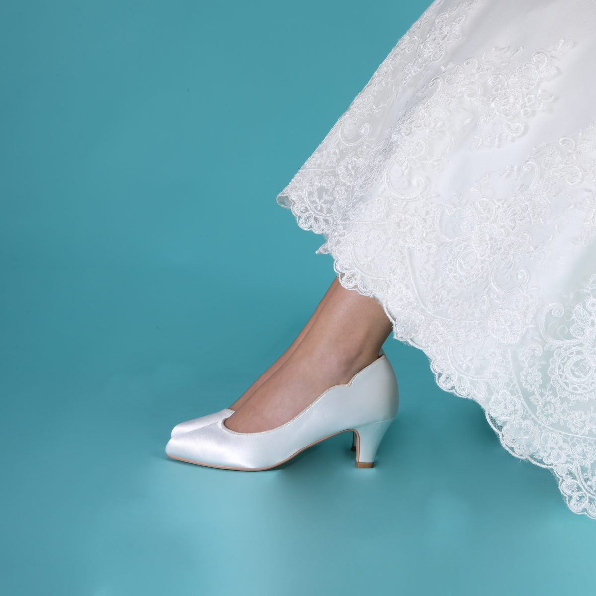 Perfect Bridal Adelyn Shoes - Ivory Satin 2