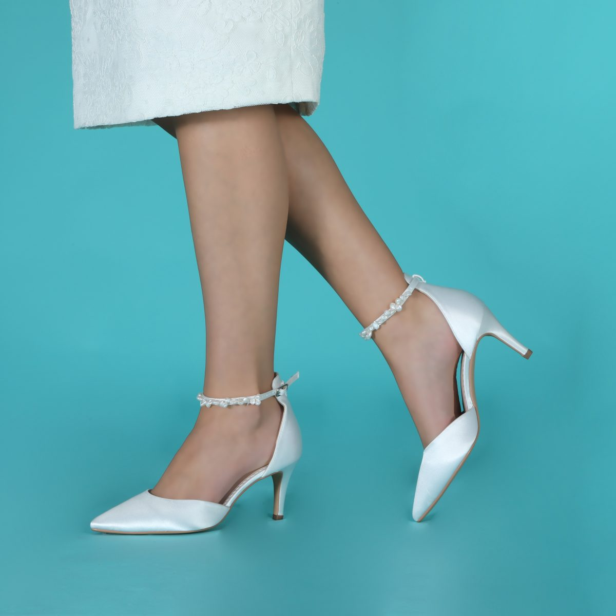 Perfect Bridal Ella Shoes - Mid Heel 3
