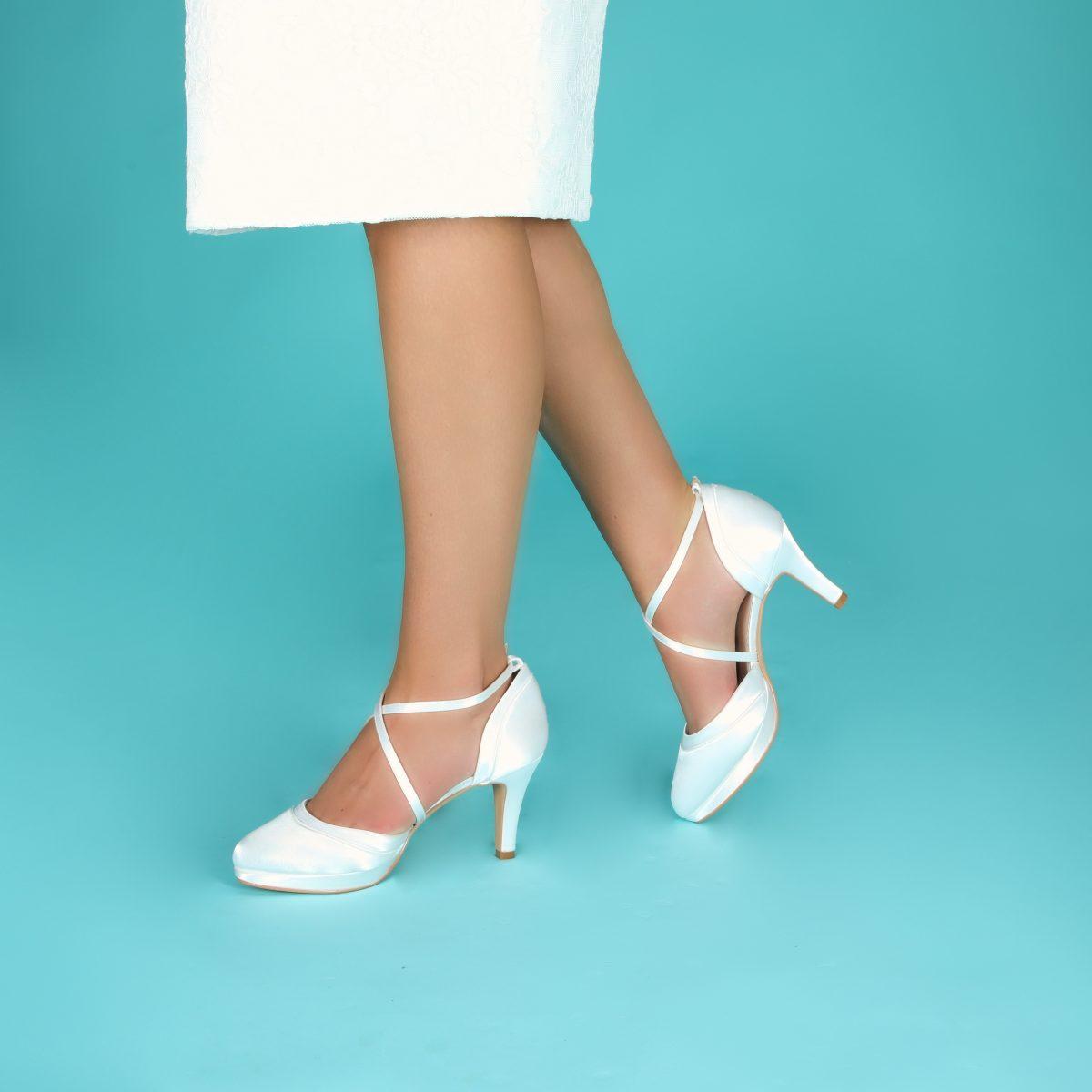 Perfect Bridal Isobel Shoes - Ivory Satin 3