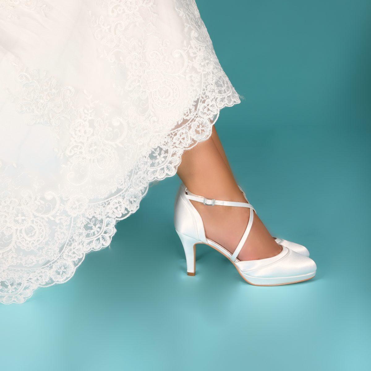 Perfect Bridal Isobel Shoes - Ivory Satin 2