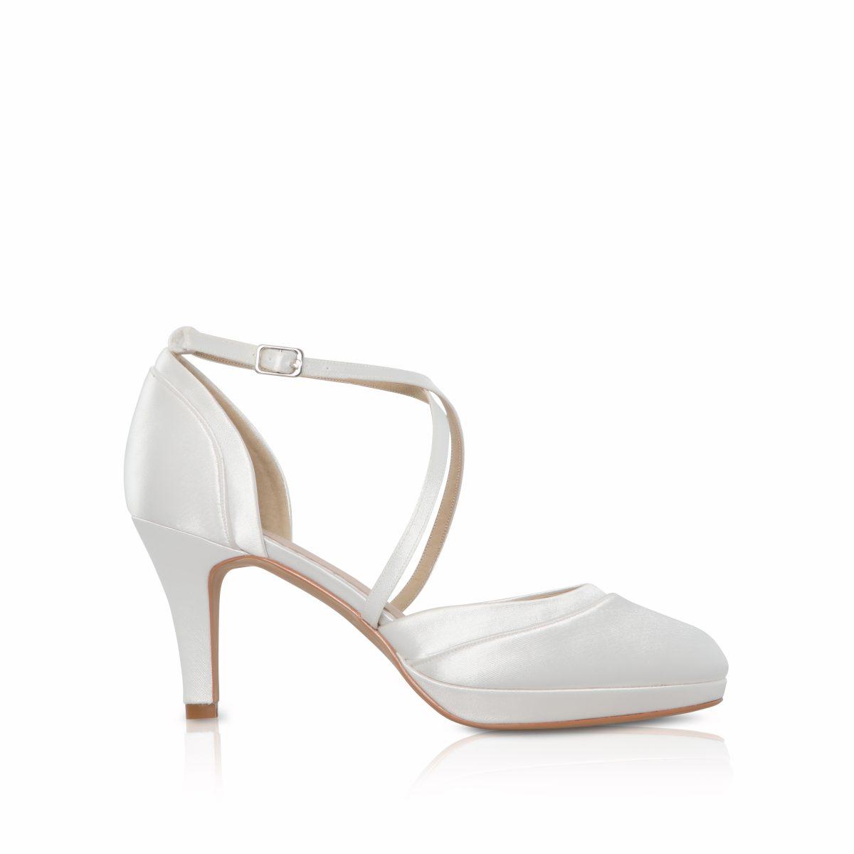 Perfect Bridal Isobel Shoes - Ivory Satin 1