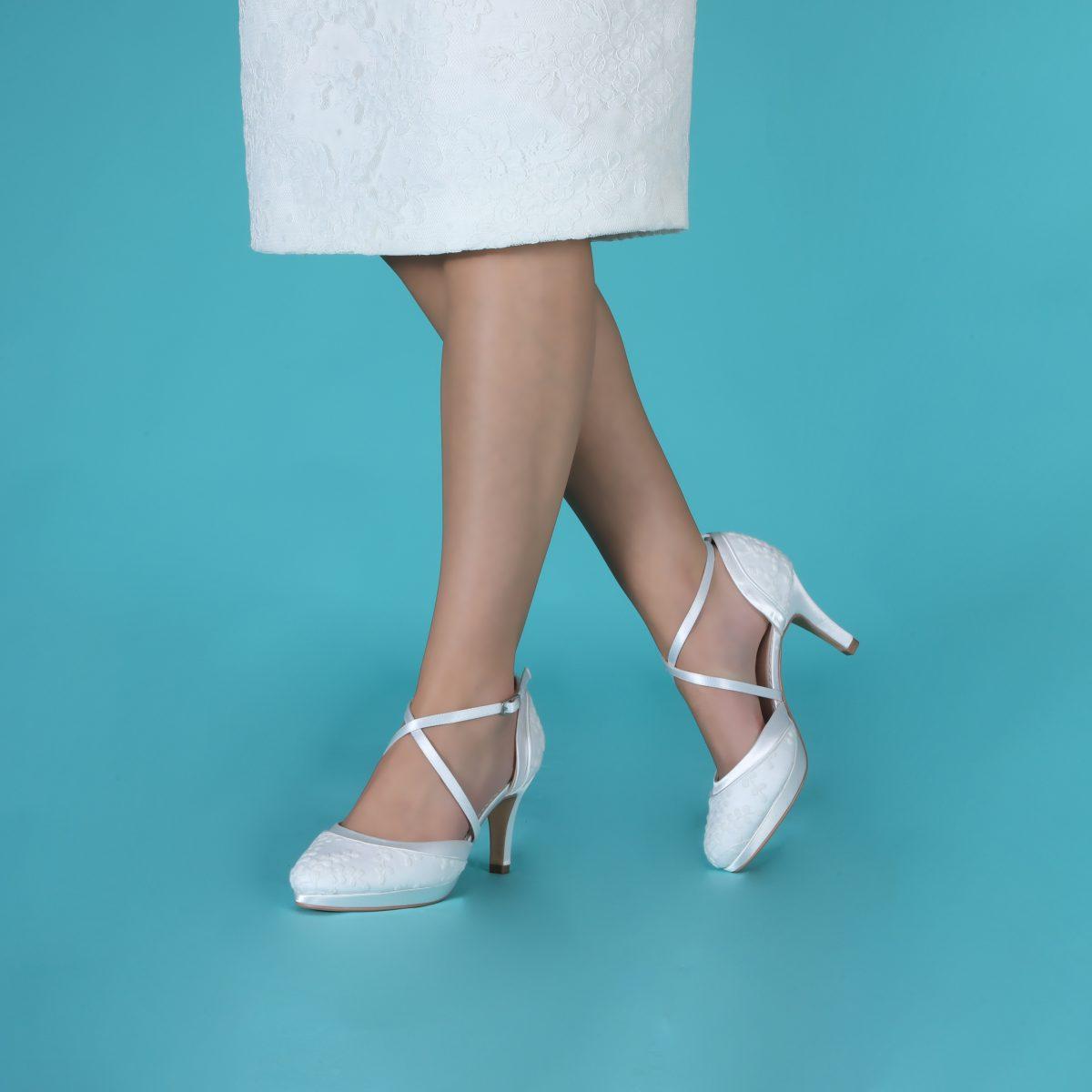 Perfect Bridal Isobel Shoes - Ivory Lace 3