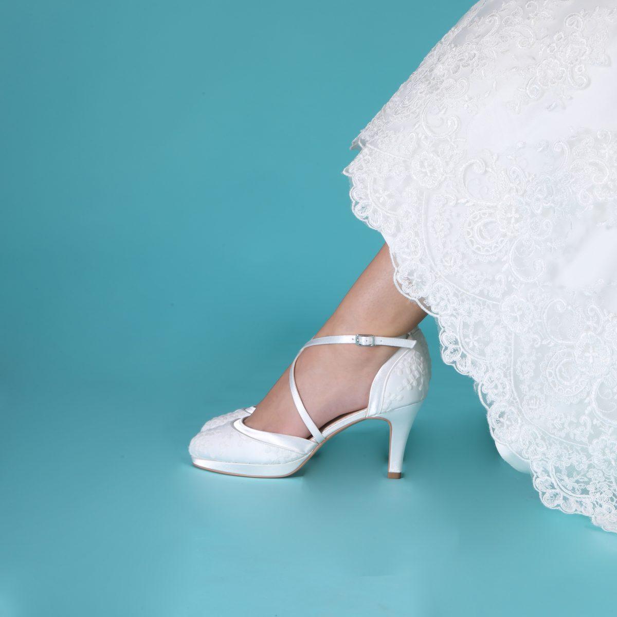Perfect Bridal Isobel Shoes - Ivory Lace 2