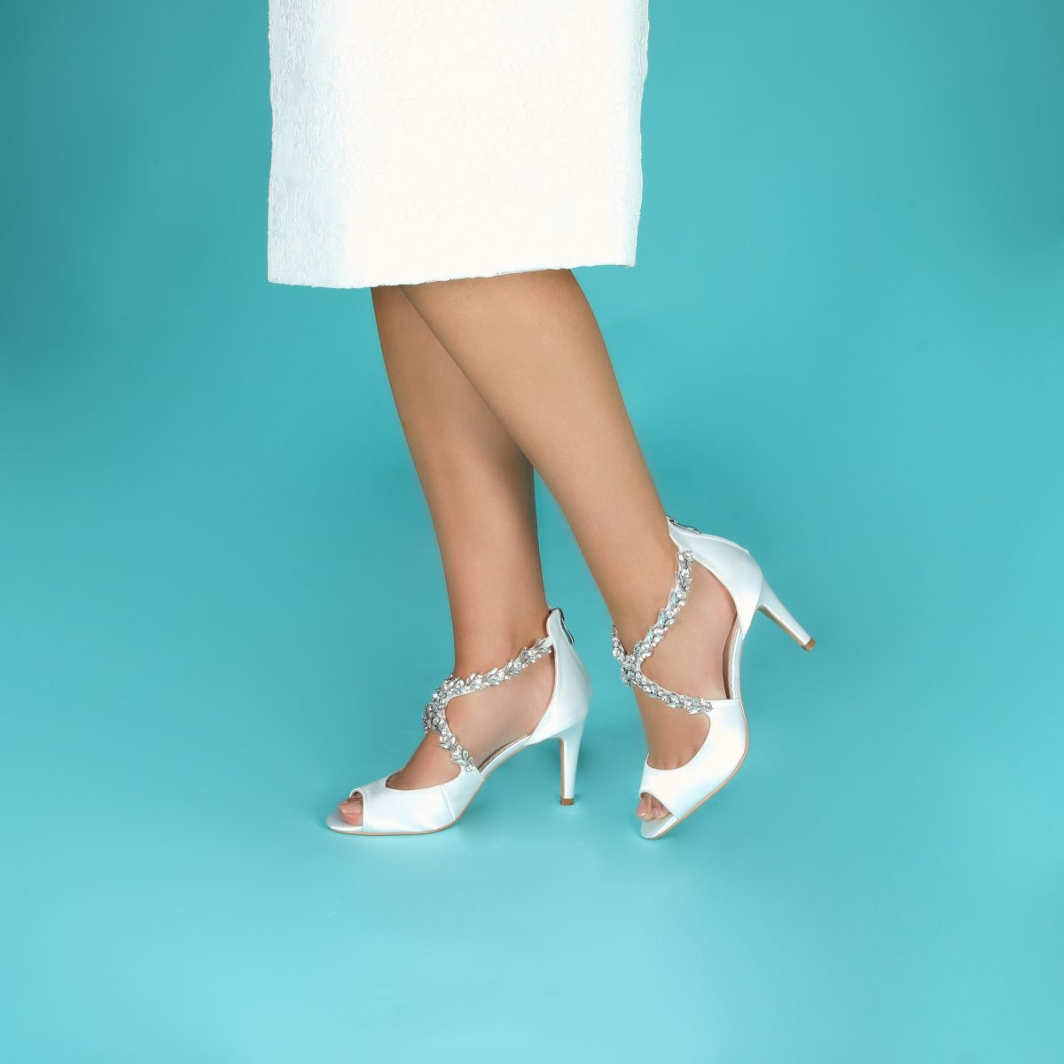 Perfect Bridal Katelyn Shoes - Ivory Satin 3