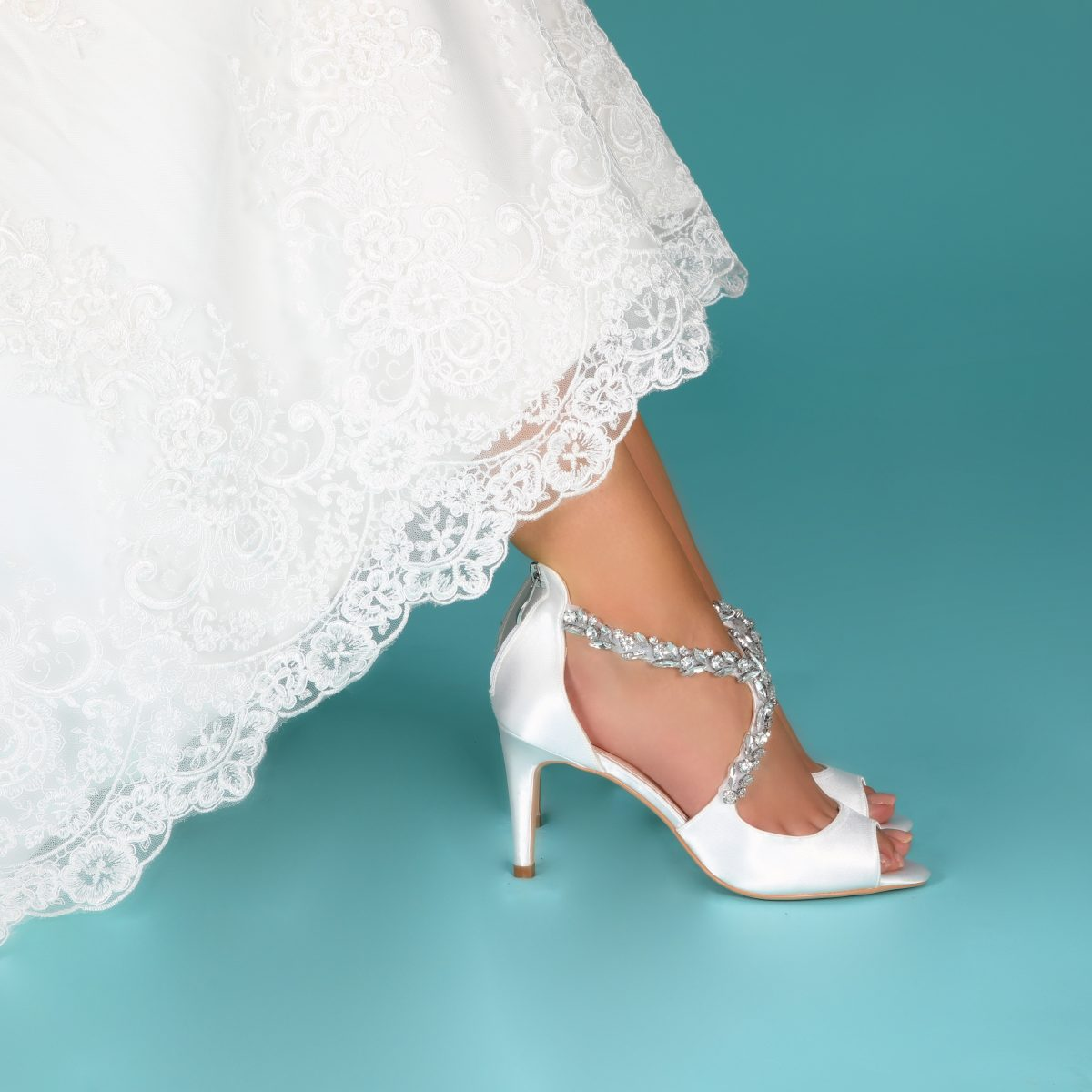 Perfect Bridal Katelyn Shoes - Ivory Satin 2