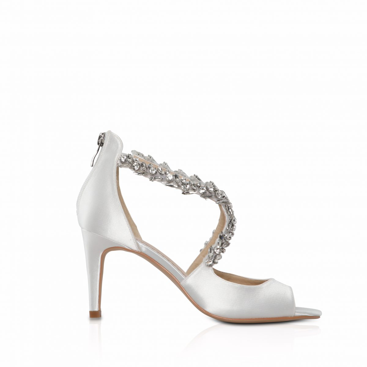 Perfect Bridal Katelyn Shoes - Ivory Satin 1