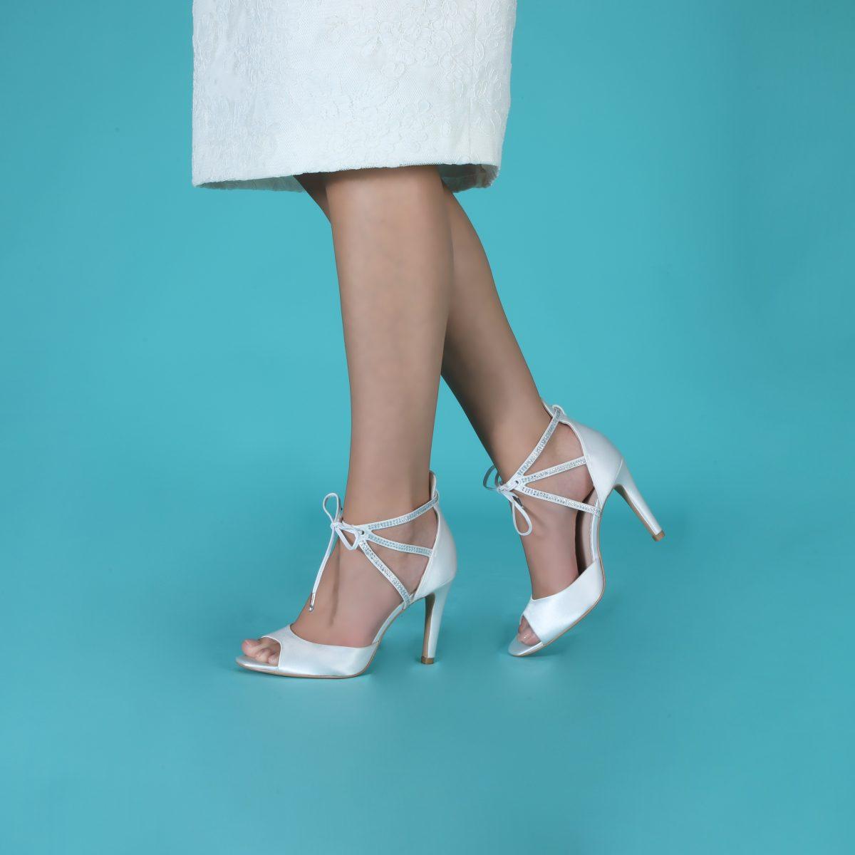 Perfect Bridal Kelis Shoes - Ivory Satin 4