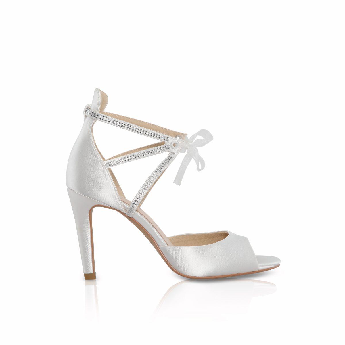 Perfect Bridal Kelis Shoes - Ivory Satin 1