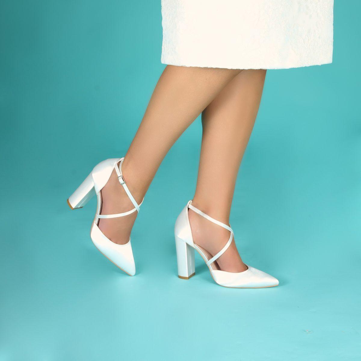 Perfect Bridal Keira Shoes - Ivory Satin 3