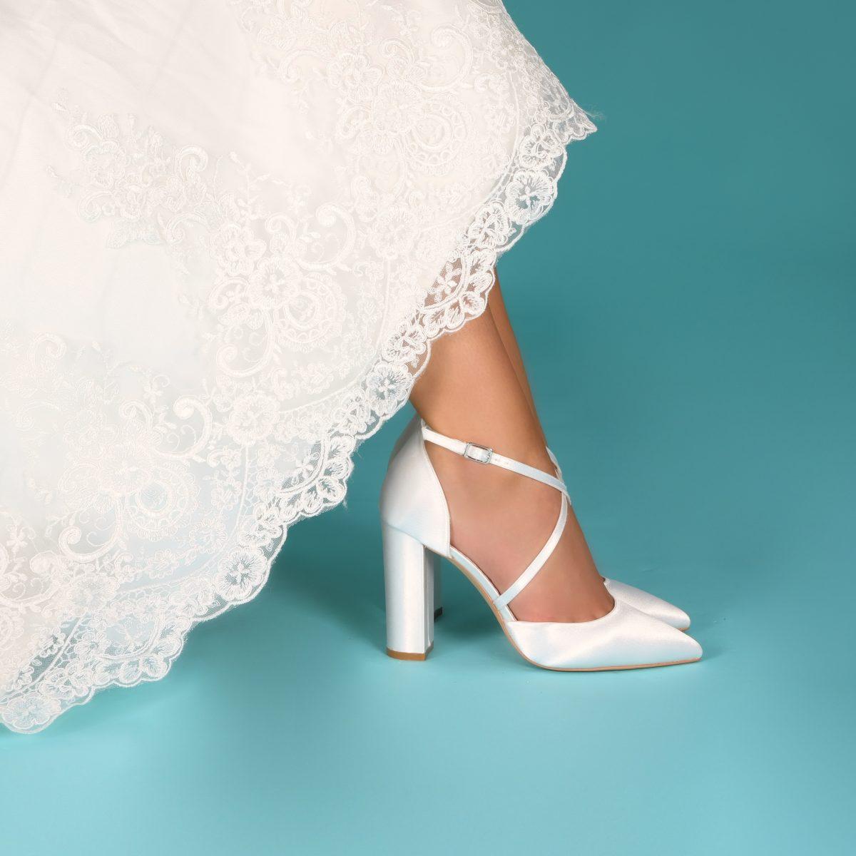 Perfect Bridal Keira Shoes - Ivory Satin 2