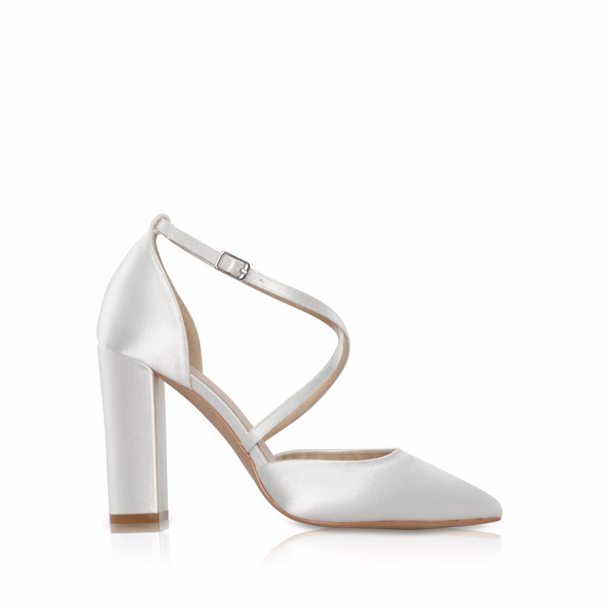 Perfect Bridal Keira Shoes - Ivory Satin 1