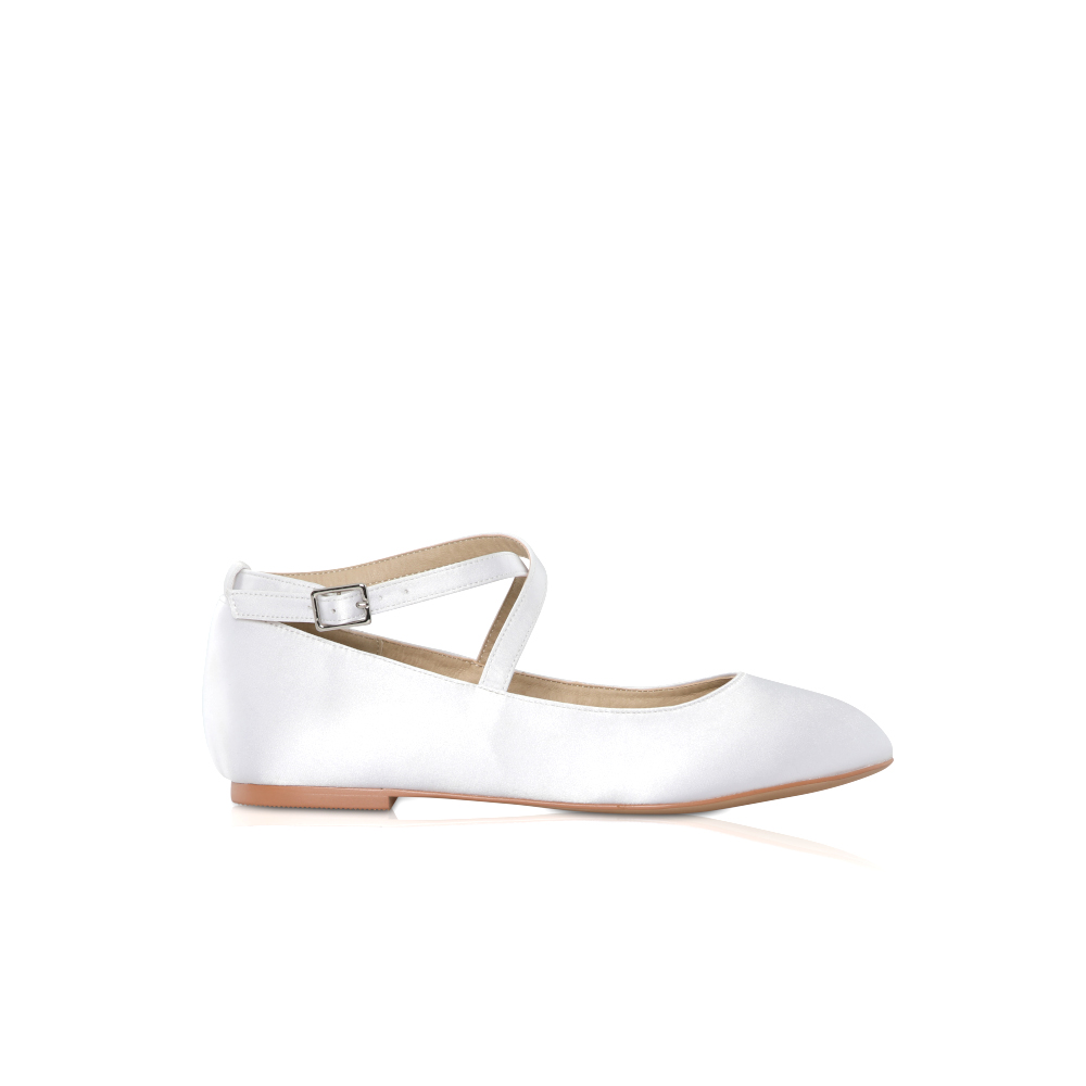 Perfect Bridal Kids - Lena Communion Shoes - White Satin 1