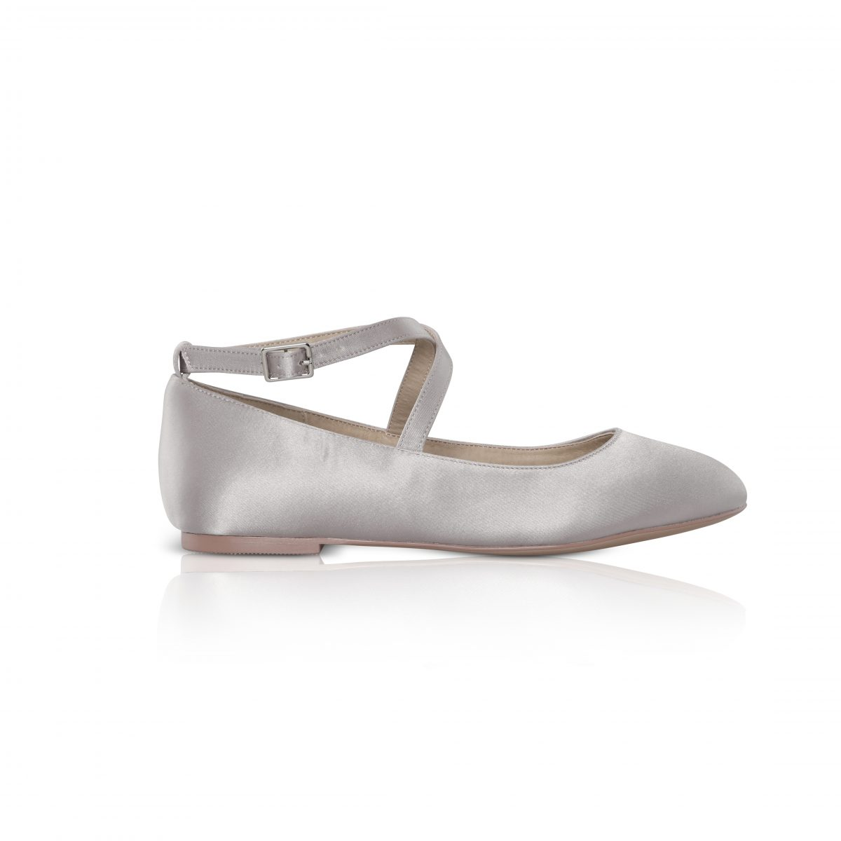 Perfect Bridal Kids - Lena Shoes - Silver Satin 1