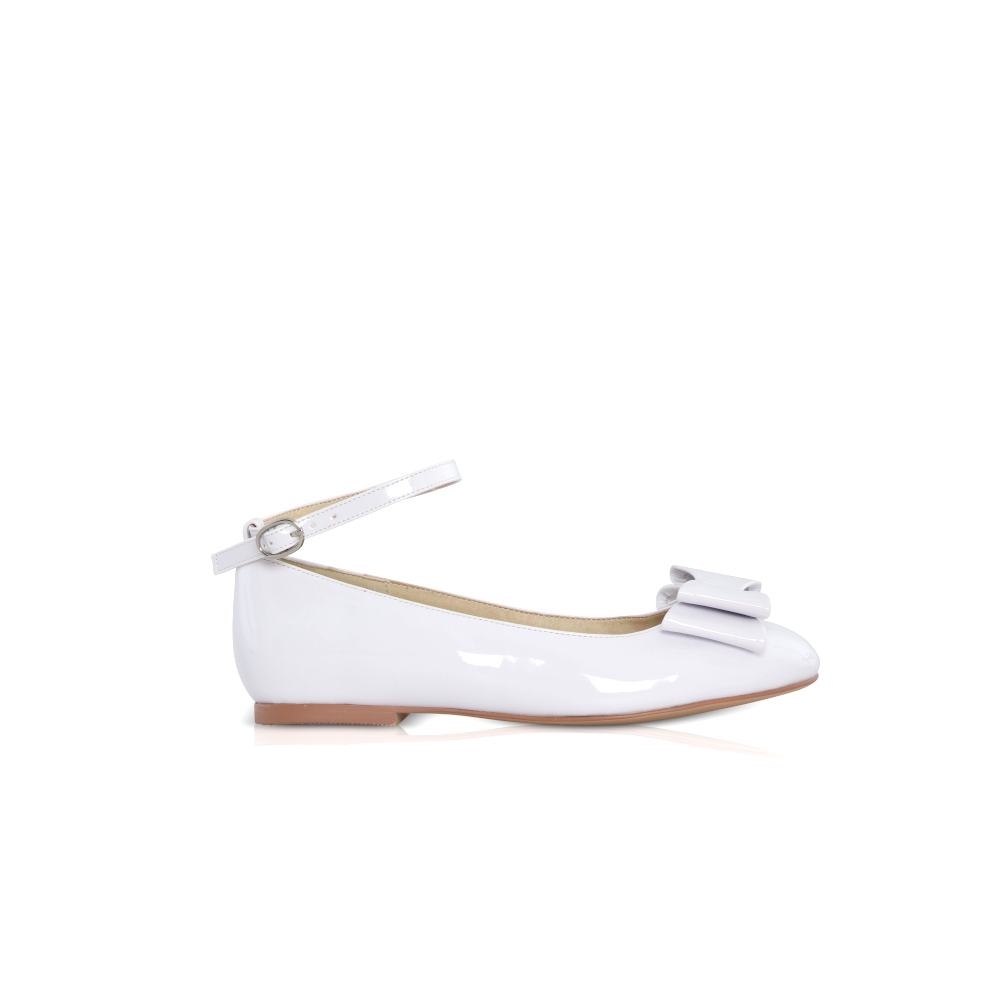 Perfect Bridal Kids - Macie Communion Shoes - White Patent 1