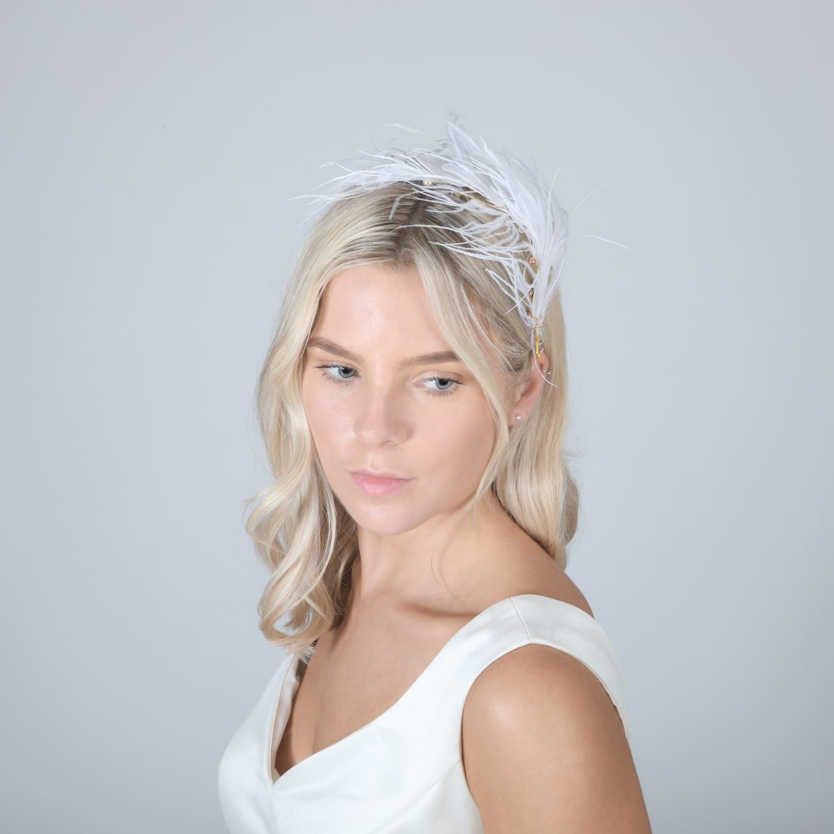 Perfect Bridal PBH7021 Feather Headpiece 2