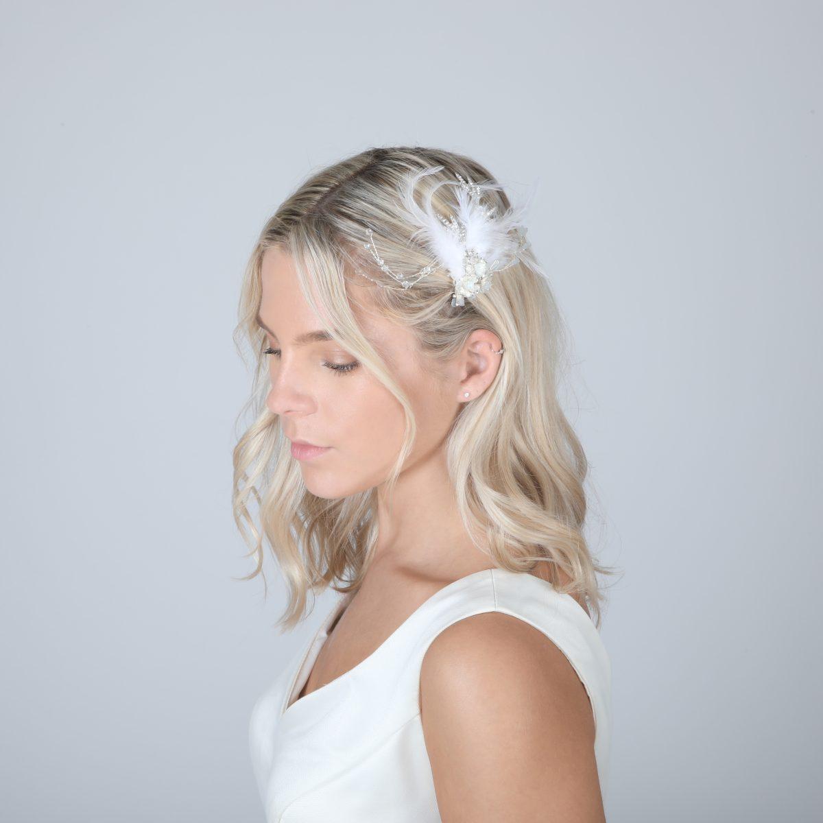 Perfect Bridal PBH7022 Feather Headpiece 1