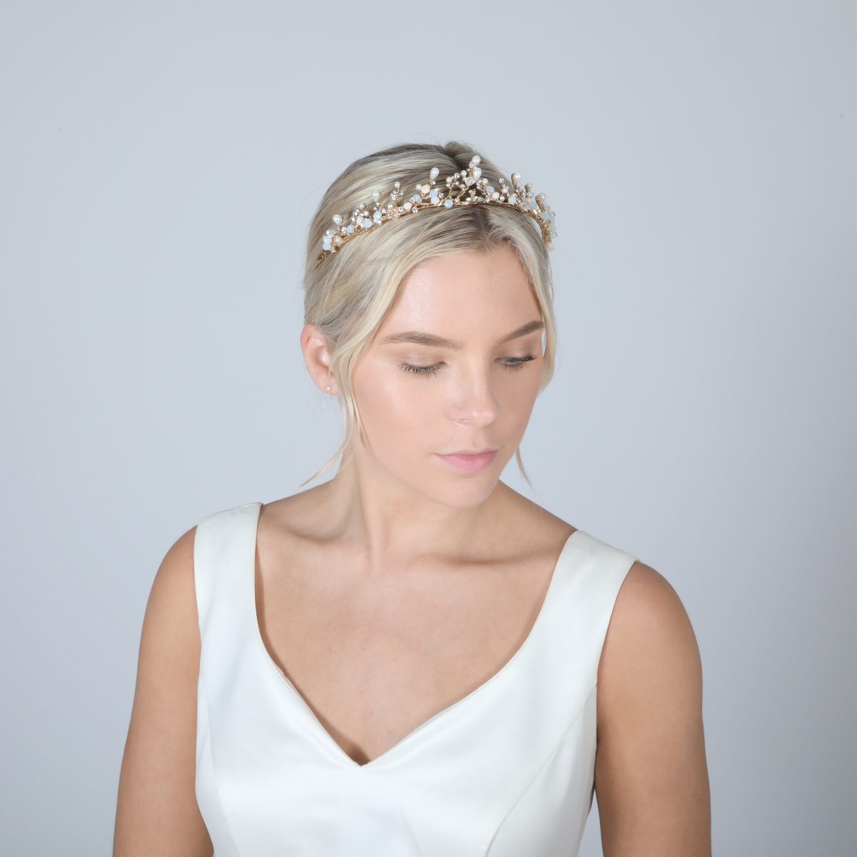 Perfect Bridal Low Crown - PBT5025 - Gold Tone 2