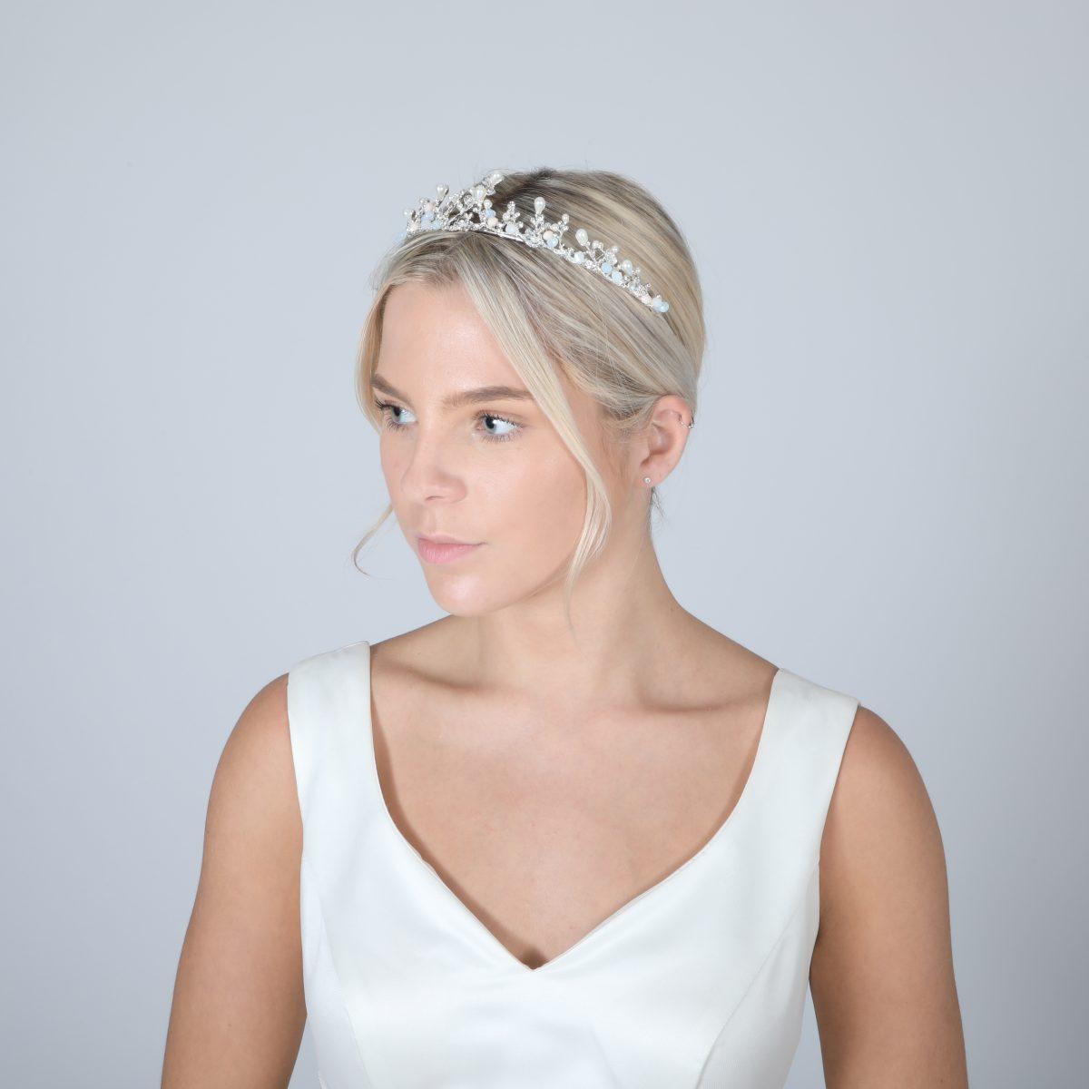 Perfect Bridal Low Crown - PBT5025 - Silver Tone 2