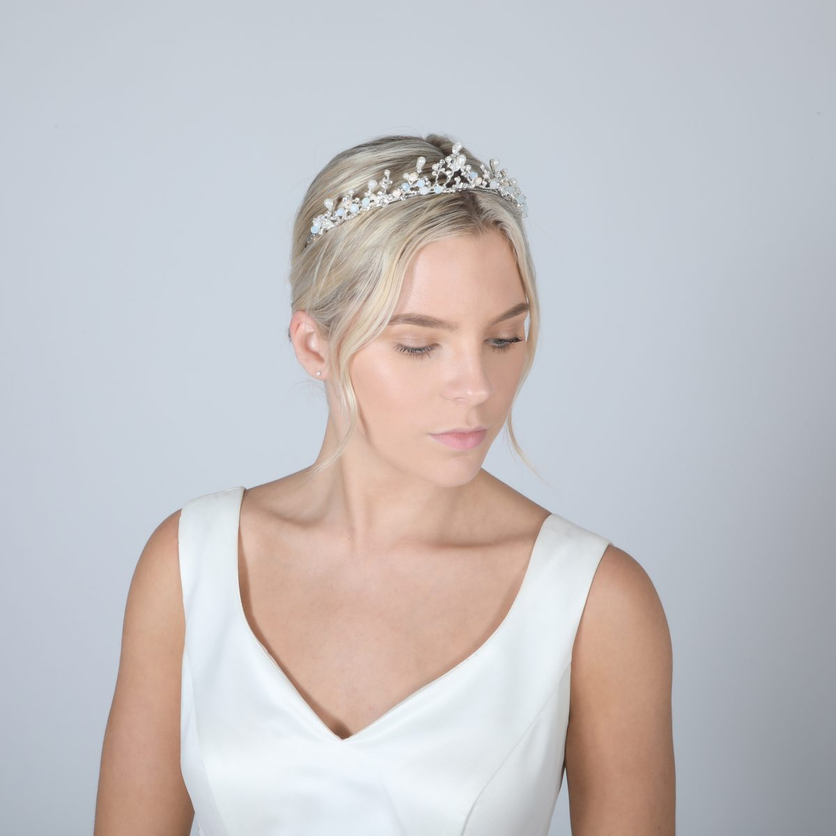 Perfect Bridal Low Crown - PBT5025 - Silver Tone 1