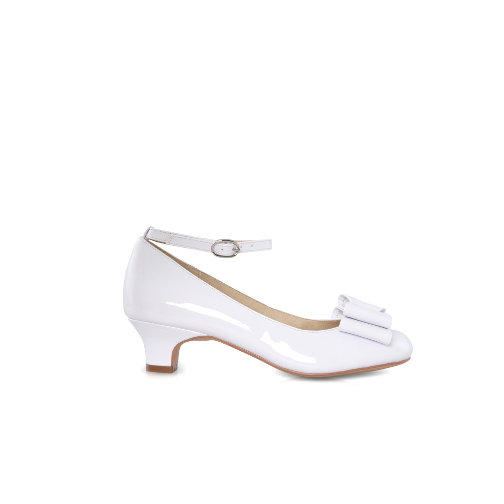 Perfect Bridal Kids - Phoebe Communion Shoes - White Patent 1