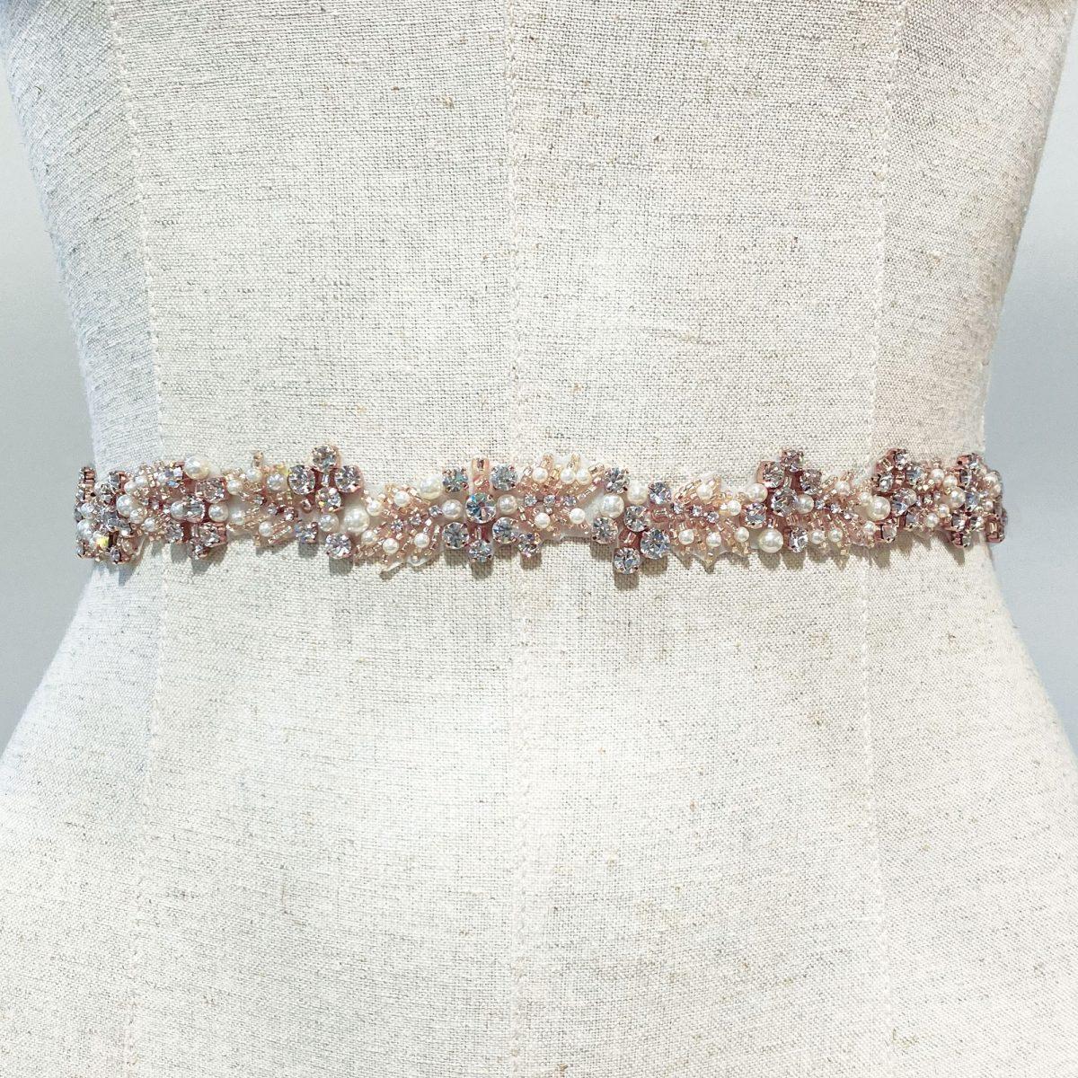 Ivory and Co Rose Cluster Bridal Belt 2