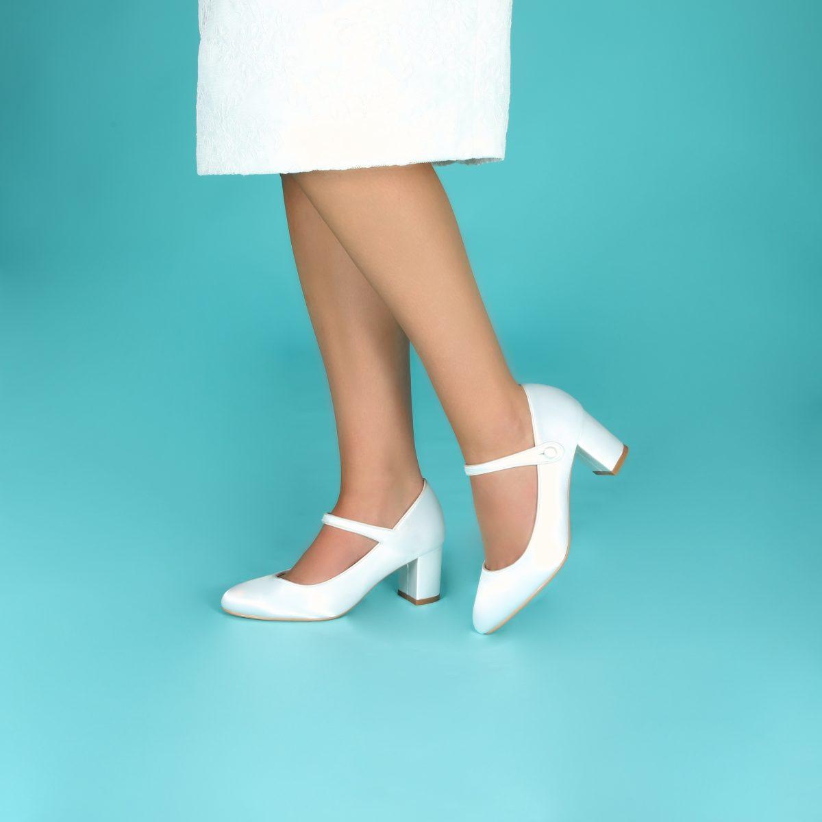 Perfect Bridal Toni Shoes - Ivory Satin 3