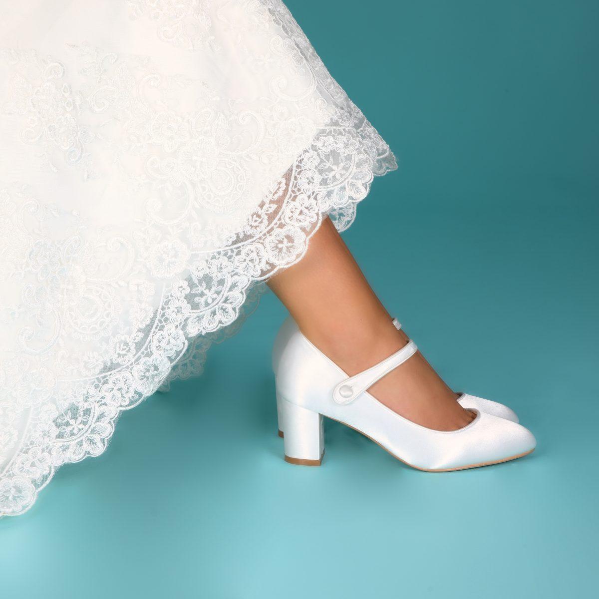 Perfect Bridal Toni Shoes - Ivory Satin 2