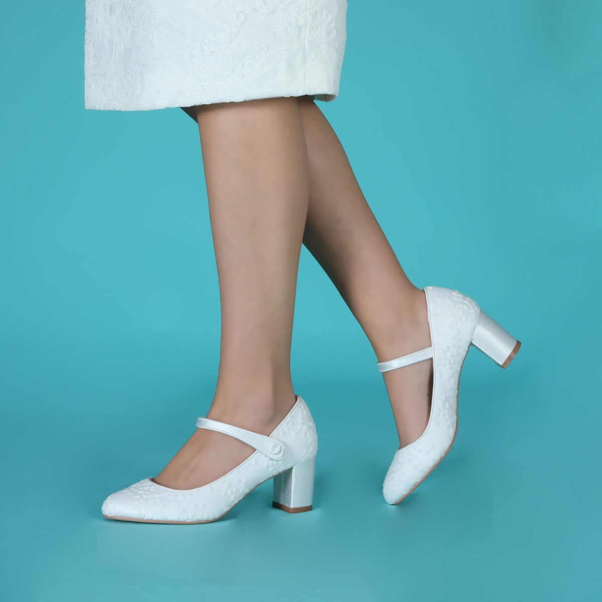 Perfect Bridal Toni Shoes - Ivory Lace 3