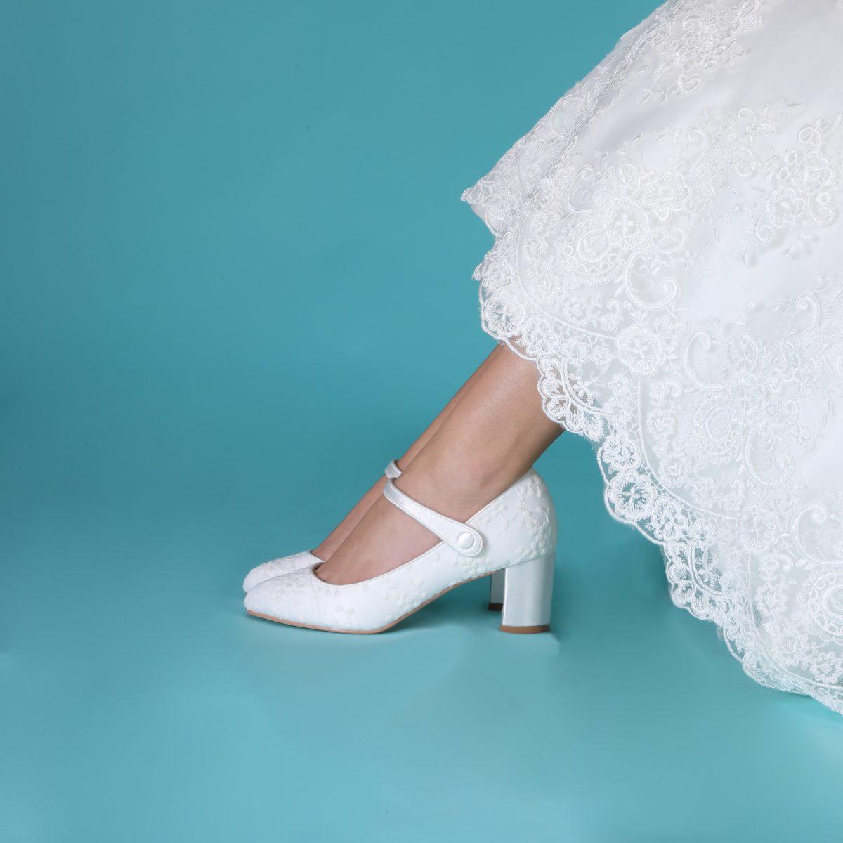 Perfect Bridal Toni Shoes - Ivory Lace 2