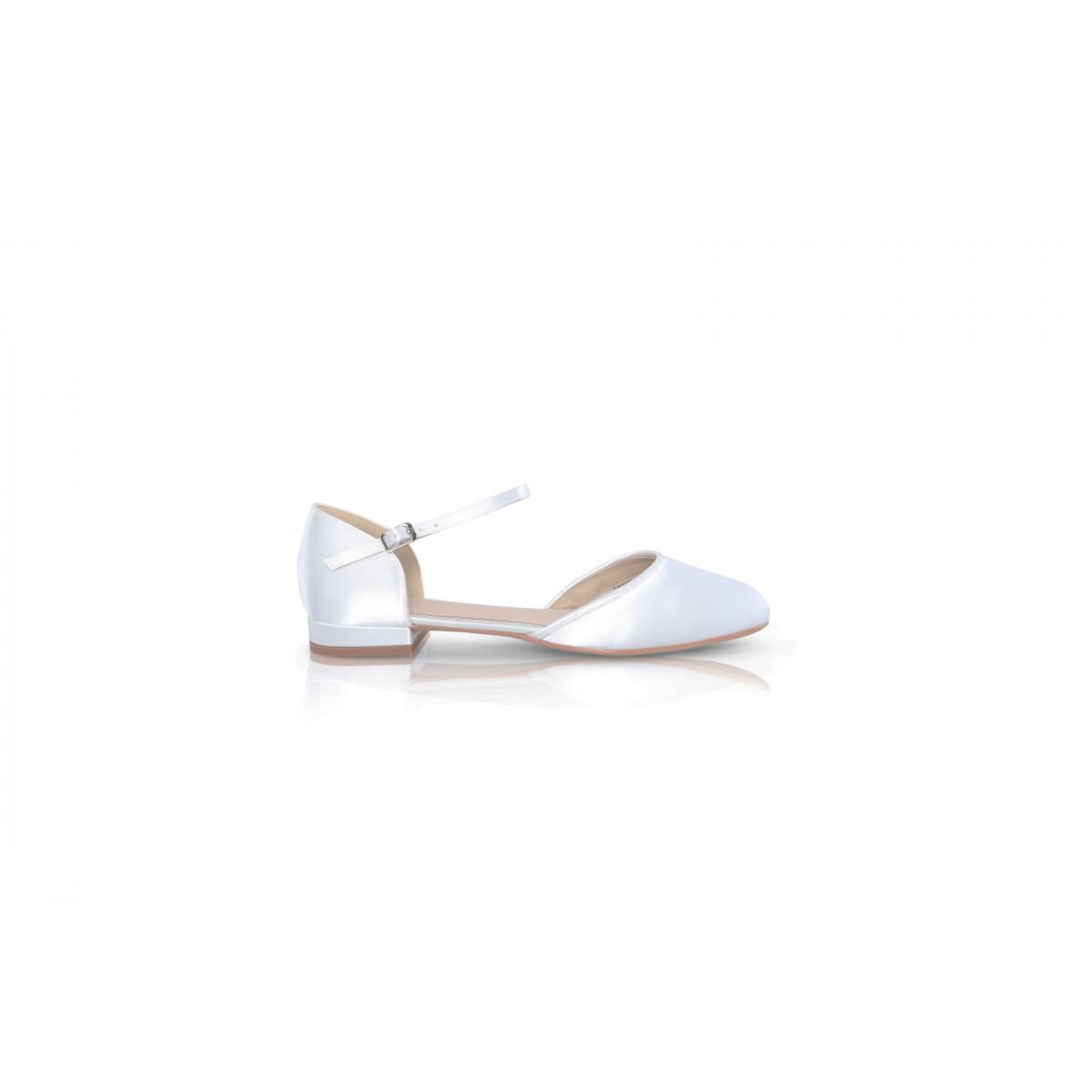 Perfect Bridal Verity Shoes - Ivory Satin 1