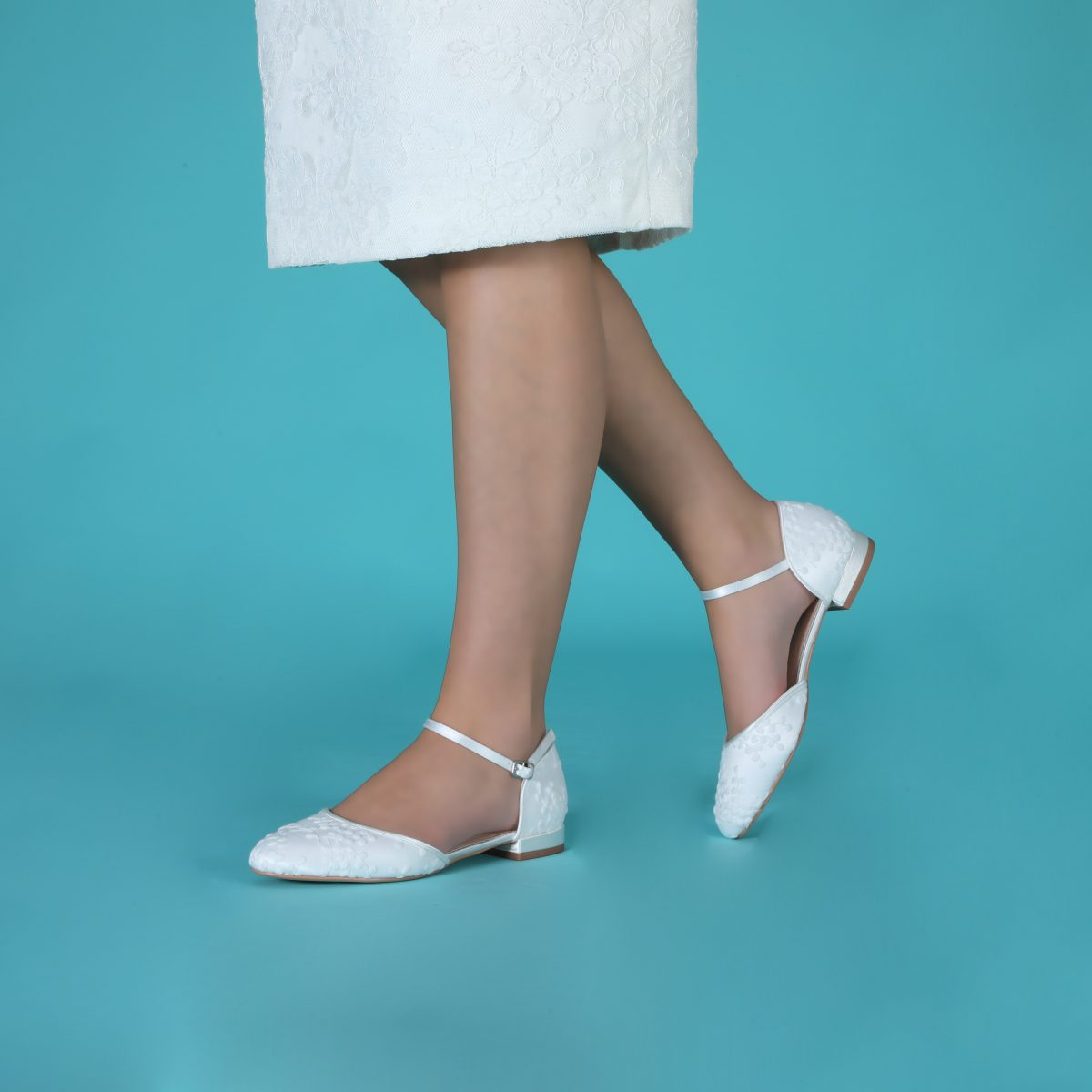 Perfect Bridal Verity Shoes - Ivory Lace 3