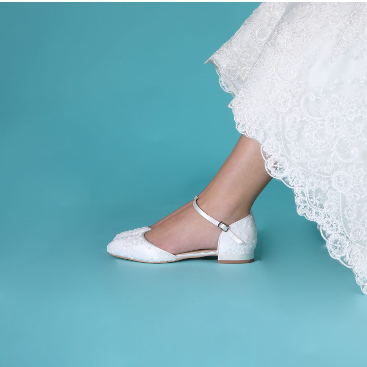 Perfect Bridal Verity Shoes - Ivory Lace 2