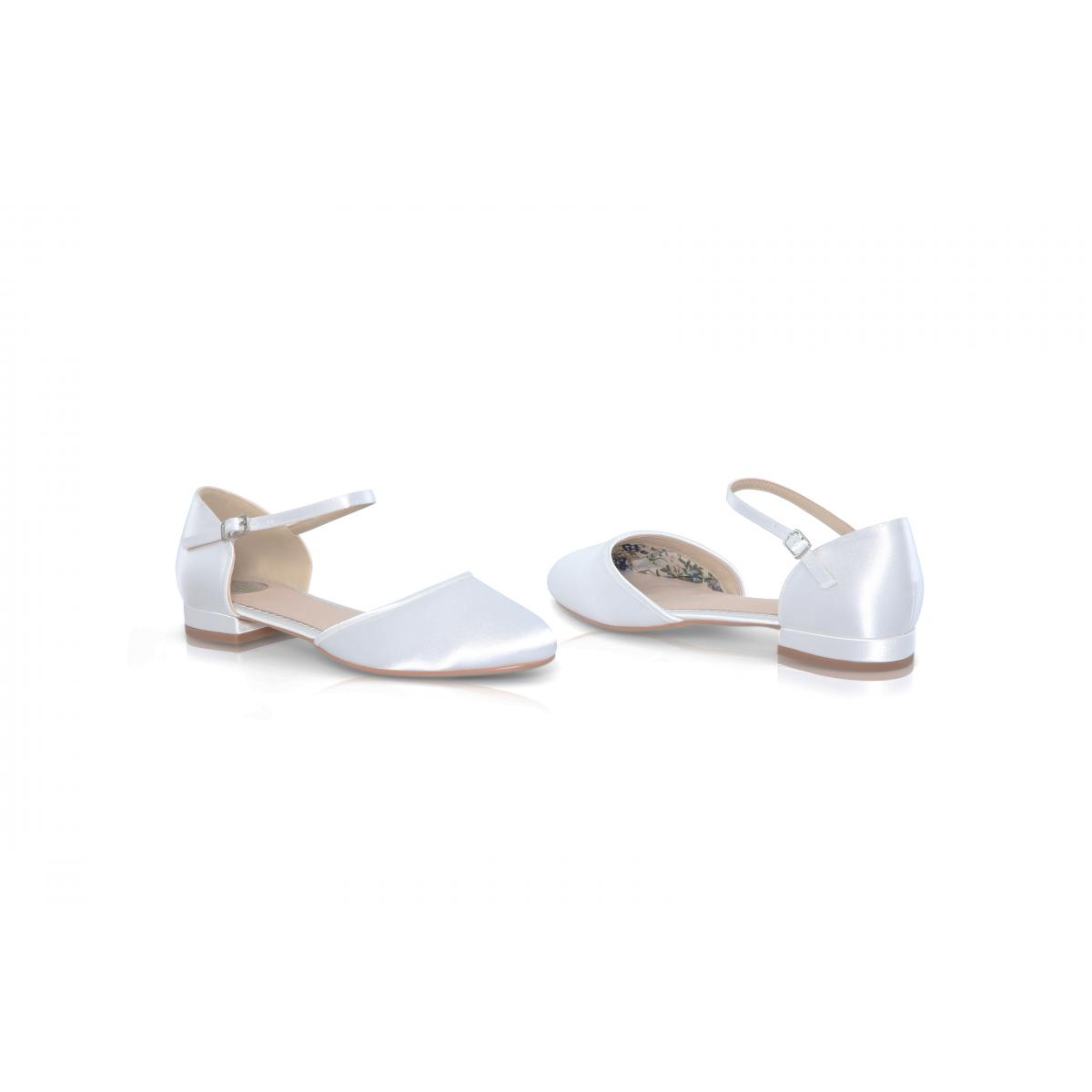 Perfect Bridal Verity Shoes - Ivory Satin 4