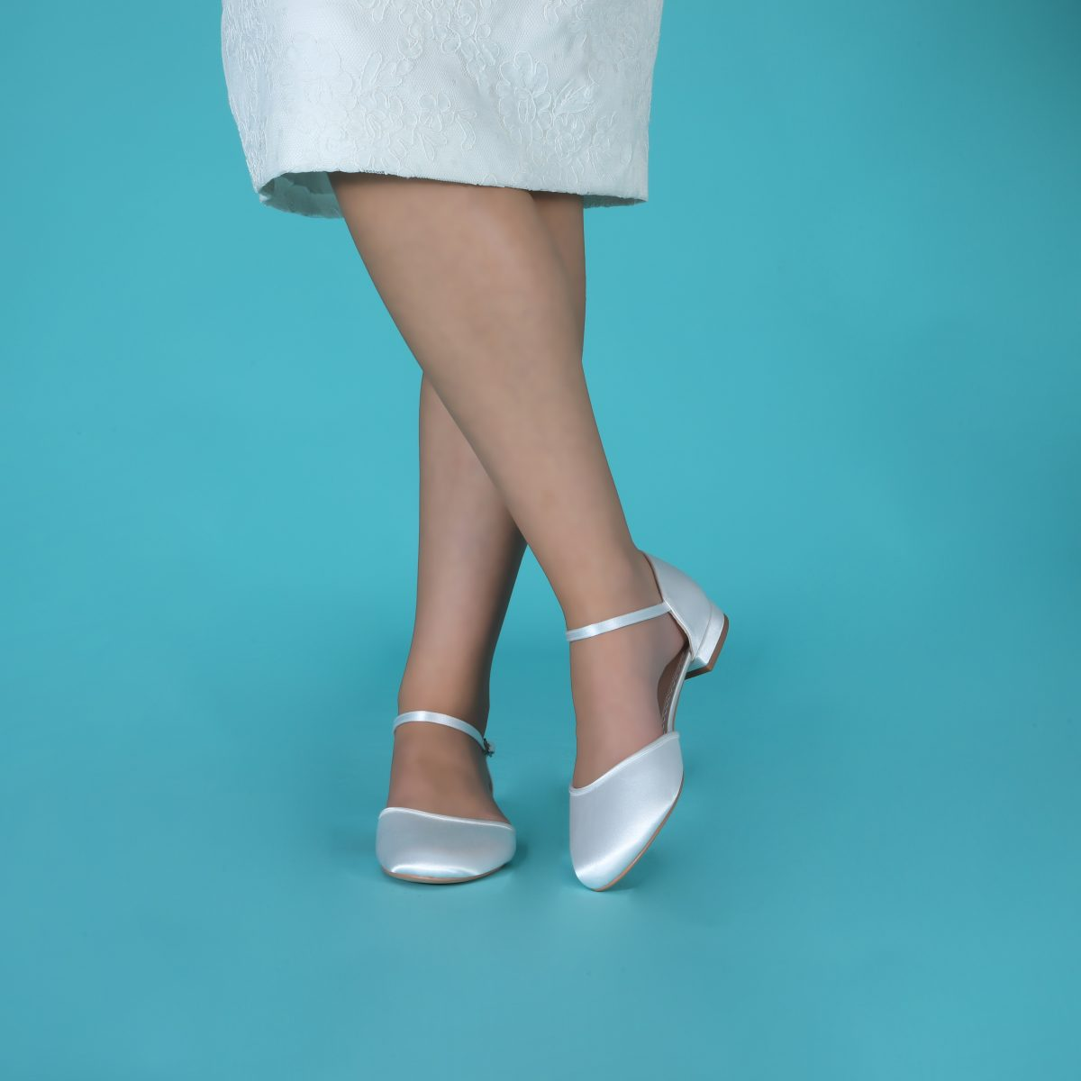 Perfect Bridal Verity Shoes - Ivory Satin 3