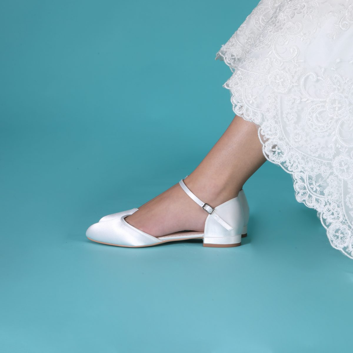 Perfect Bridal Verity Shoes - Ivory Satin 2