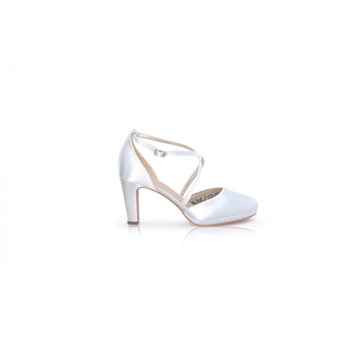 Perfect Bridal Wren Shoes - Ivory Satin 1