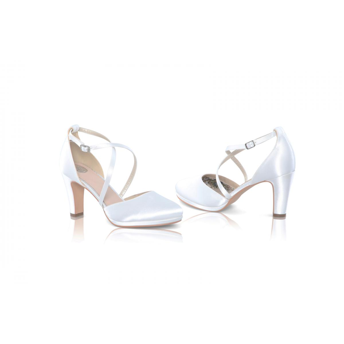 Perfect Bridal Wren Shoes - Ivory Satin 3