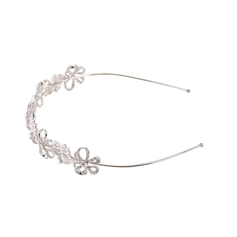 Athena Collection - Chic Crystal Treasure Headband Silver 3