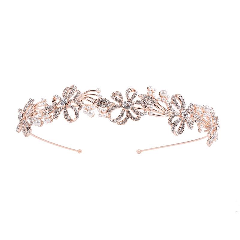 Athena Collection - Chic Crystal Treasure Headband - Rose Gold 2