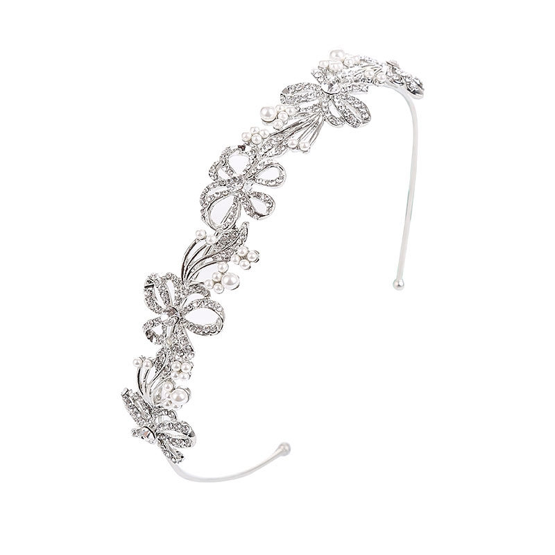 Athena Collection - Chic Crystal Treasure Headband Silver 1