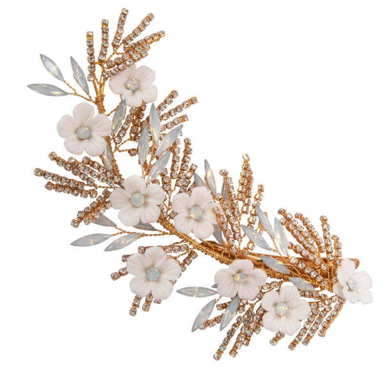 Athena Collection Charlotte Headpiece - Gold 2