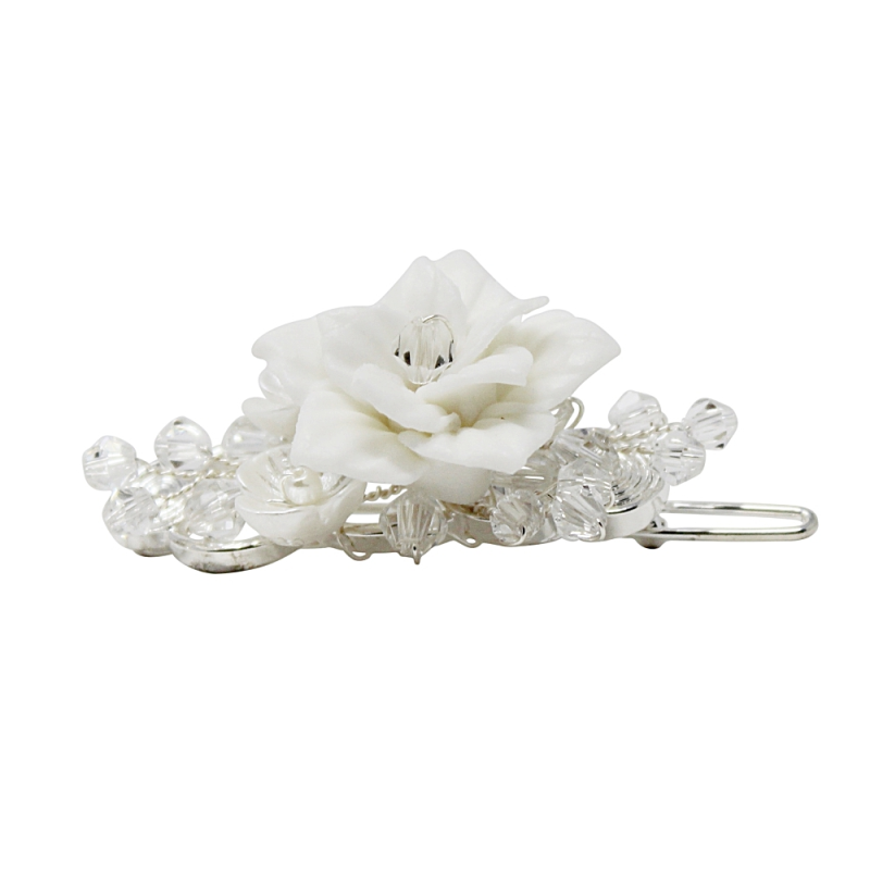 Athena Collection - Vintage Chic Hair Clip - Silver 2