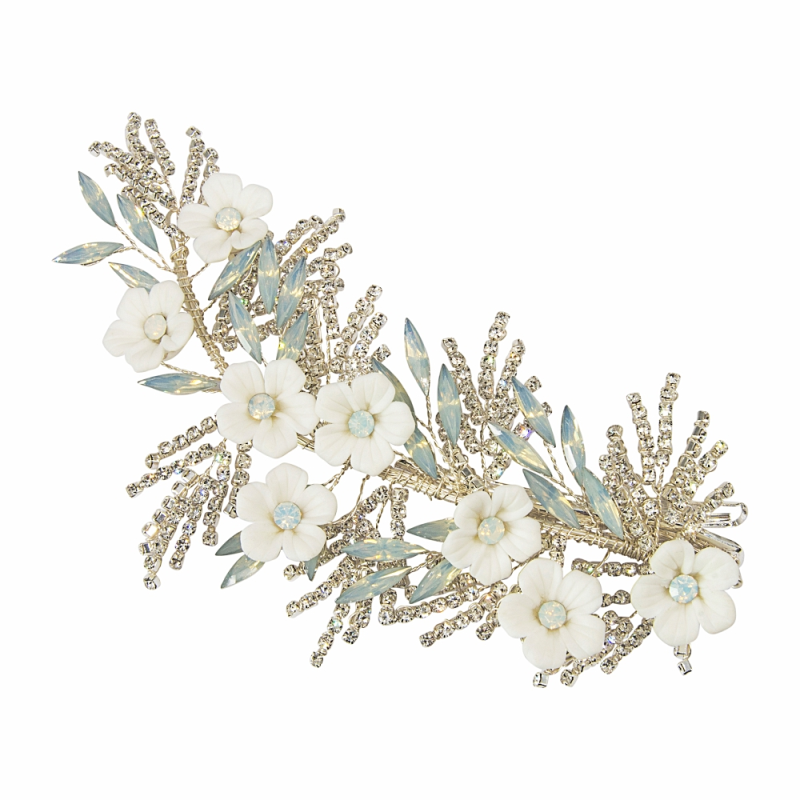 Athena Collection Charlotte Headpiece - Silver 2