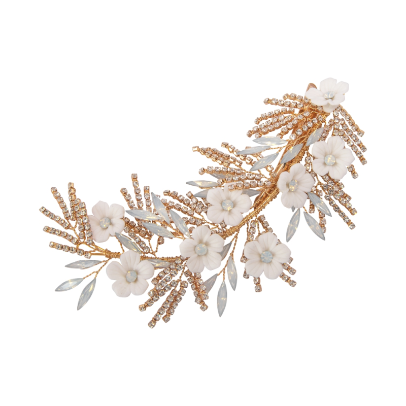 Athena Collection Charlotte Headpiece - Gold 1