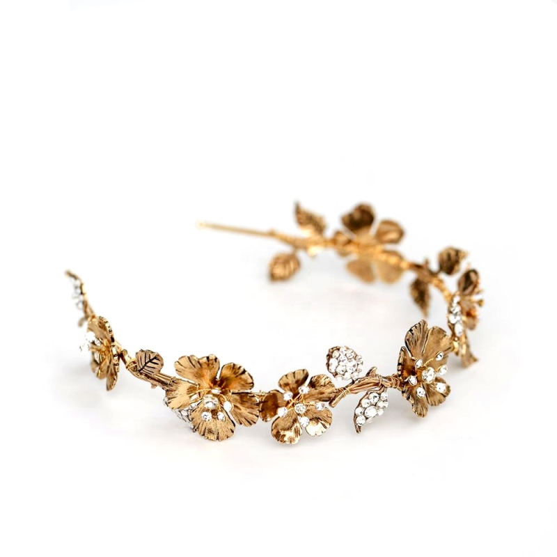 Athena Collection Dark Gold Luxe Headband 2