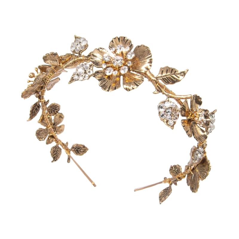 Athena Collection Dark Gold Luxe Headband 1