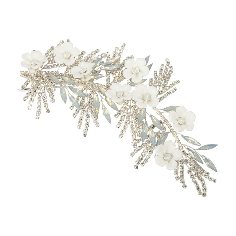 Athena Collection Charlotte Headpiece - Silver 1