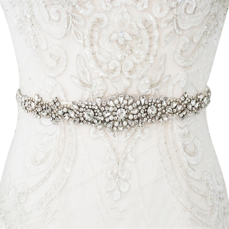 Athena Collection - Luxe Pearl Bridal Belt  27 - Ivory 1