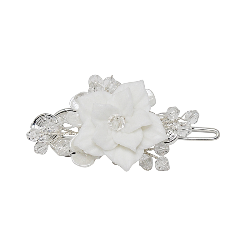 Athena Collection - Vintage Chic Hair Clip - Silver 1