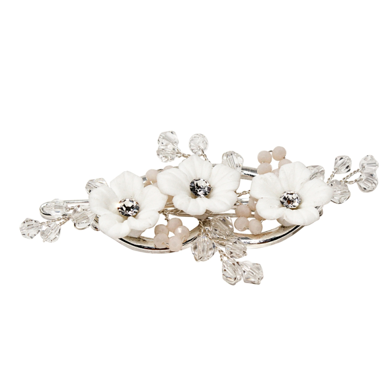 Athena Collection - Charlotte Luxe Hair Clip - Silver 1